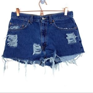 Levi's Distressed Cutoff Jean Shorts Festival 29